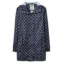 Buy Joules Right as Rain Golightly Pack Away Waterproof Parka, Navy Spot Online at johnlewis.com