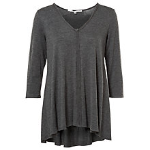 Buy Max Studio V-Neck Jersey Top, Heather Charcoal Online at johnlewis.com