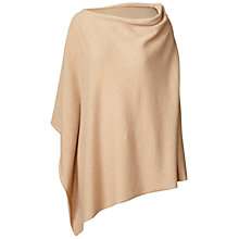 Buy Winser London Cashmere-Blend Poncho, Camel Online at johnlewis.com