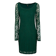 Buy Lauren Ralph Lauren Mackrell Lace Dress, Deep Green Online at johnlewis.com