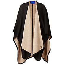 Buy Winser London Merino Wool Reversible Poncho, Came/Black Online at johnlewis.com