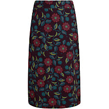 Buy Seasalt White Sands Skirt, Logan Flower Aubergine Online at johnlewis.com