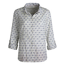 Buy Seasalt Larissa Print Shirt, Sam & Sally Winter White Online at johnlewis.com