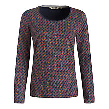 Buy Seasalt Tianna Printed Top, Tiny Berry Fathom Online at johnlewis.com