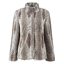 Buy Gerry Weber Faux Fur Jacket, Camel/Beige Online at johnlewis.com