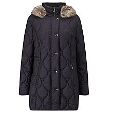 Buy Gerry Weber Quilted Leopard Print Jacket, Blue Online at johnlewis.com