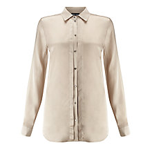 Buy Gerry Weber Satin Shirt, Sand Online at johnlewis.com