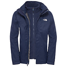 Buy The North Face Evolve II Triclimate 3-in-1 Waterproof Men's Jacket, Navy Online at johnlewis.com