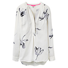 Buy Joules Rosamund Floral Print Blouse, Cream Tulip Online at johnlewis.com