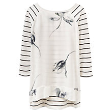 Buy Joules Polly Stripe Print Jersey Top, Cream Tulip Online at johnlewis.com