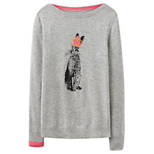 Buy Joules Hare Intarsia Jumper, Soft Grey Marl Online at johnlewis.com