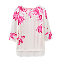 Buy Joules Andrea Floral Print Blouse, Cream Tulip Online at johnlewis.com