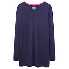 Buy Joules Liza Print Woven Back Jumper, Navy Online at johnlewis.com