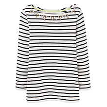 Buy Joules Marnie Embellished Stripe Jersey Top Online at johnlewis.com