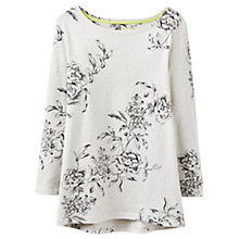 Buy Joules Harbour Floral Printed Jersey Top, Cream Marl Floral Online at johnlewis.com