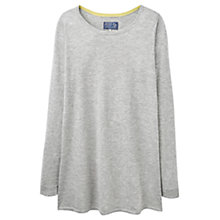 Buy Joules Liza Print Woven Back Jumper, Soft Grey Marl Online at johnlewis.com