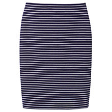Buy Joules Ariela Stripe Pencil Skirt, Soft Navy Stripe Online at johnlewis.com