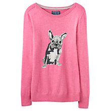 Buy Joules Marsha French Bulldog Jumper, Cherry Blossom Marl Online at johnlewis.com
