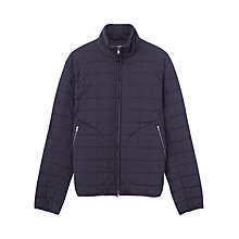 Buy Jigsaw Square Quilted Blouson Jacket, Navy Online at johnlewis.com