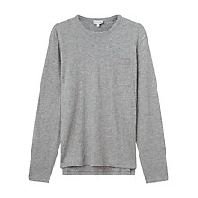 Buy Jigsaw Wool Cotton Long Sleeve Tee Online at johnlewis.com