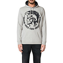 Buy Diesel Agnes Patch Felpa Mohawk Chambray Hoodie, Light Grey Online at johnlewis.com