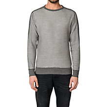 Buy Diesel Erastos Waffle Panel Cotton Sweatshirt, Dark Grey Marl Online at johnlewis.com