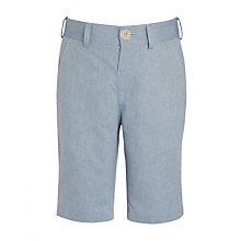 Buy John Lewis Heirloom Collection Boys' Cotton Oxford Shorts, Pale Blue Online at johnlewis.com