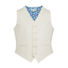 Buy John Lewis Heirloom Collection Boys' Linen Waistcoat, Stone Online at johnlewis.com