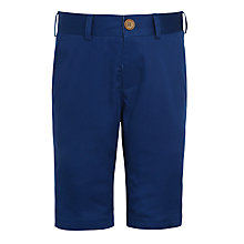 Buy John Lewis Heirloom Collection Cotton Sateen Shorts, Blue Online at johnlewis.com
