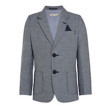 Buy John Lewis Heirloom Collection Boys' Puppytooth Jacket, Navy/Cream Online at johnlewis.com