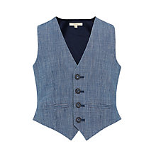Buy John Lewis Heirloom Collection Slub Textured Waistcoat, Indigo Online at johnlewis.com