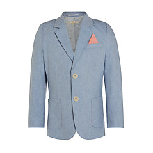 Buy John Lewis Heirloom Collection Boys' Cotton Oxford Jacket, Blue Online at johnlewis.com