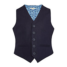 Buy John Lewis Heirloom Collection Boys' Linen Waistcoat, Navy Online at johnlewis.com