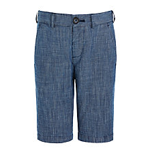 Buy John Lewis Heirloom Collection Boys' Slub Textured Shorts, Indigo Online at johnlewis.com
