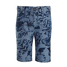 Buy John Lewis Heirloom Collection Boys' Floral Shorts, Indigo Online at johnlewis.com