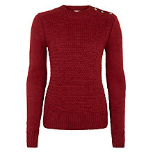 Buy BZR Beynhil Alpaca Wool-Blend Jumper, Red Online at johnlewis.com