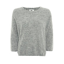 Buy BZR Cat Alpaca Wool-Blend Jumper, Grey Online at johnlewis.com