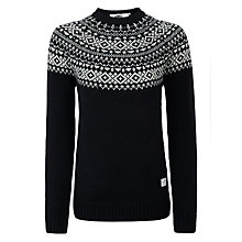 Buy Penfield Freeman Fairisle Lambswool Jumper, Navy Online at johnlewis.com