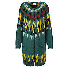 Buy Samsoe & Samsoe Kimmy Longline Cardigan, Jasper Green Online at johnlewis.com