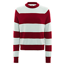 Buy BZR Meadow Stripe Jumper, Red/Blue Online at johnlewis.com