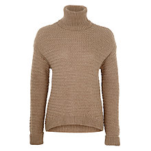 Buy BZR Anette Alpaca Wool-Blend Roll Neck Jumper, Beige Online at johnlewis.com