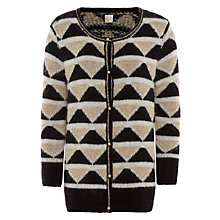 Buy Des Petits Hauts Bilbao Geometric Cardigan, Black/Ecru Online at johnlewis.com
