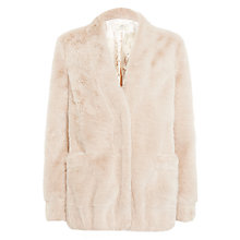 Buy Urbancode Corrinne Faux Fur Cardigan Jacket, Piglet Online at johnlewis.com