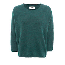 Buy BZR Cat Alpaca Wool-Blend Jumper, Green Online at johnlewis.com