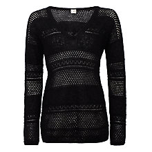 Buy Des Petits Hauts Crinette Lace Jumper, Black Online at johnlewis.com