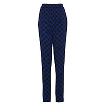 Buy Samsoe & Samsoe Gessi Lattice Print Trousers, Eclipse Online at johnlewis.com