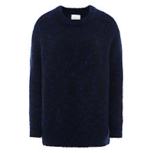Buy Samsoe & Samsoe Jeani Fleck Jumper, Navy Online at johnlewis.com