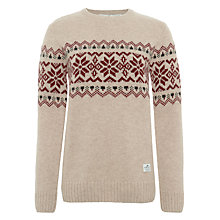 Buy Penfield Freeman Fairisle Lambswool Jumper, Oatmeal Online at johnlewis.com