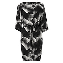 Buy Numph Ginger Etch Print Dress, Caviar Online at johnlewis.com