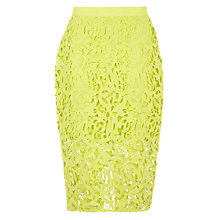 Buy Samsoe & Samsoe Lexy Lace Skirt, Sulphur Online at johnlewis.com